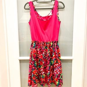 Lilly Pulitzer Pink tank top dress w/ floral skirt